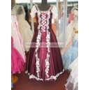 Hungarian style burgundy bride/dance dress